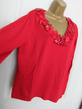 MARBLE ● size 4 (16 18) ● red sequin Xmas jumper top womens ladies