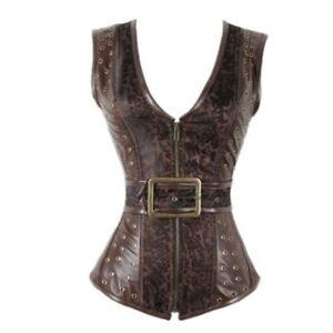 Steampunk Corset Bustier Gothic Modeling Strap Corset Women Vest Outwear S-XXL
