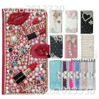 For Samsung Galaxy J3 J5 J7 PRO 2017 Bling Flip Leather Wallet Case phone cover
