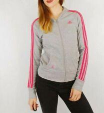 Vintage Adidas Zip Up Hoodie Grey & Pink - XS UK 8