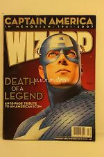Wizard Magazine (#187) Captain America (Death of a Legend) In Memoriam 1941-2007
