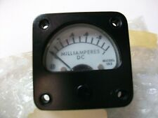 """NOS 0-1 Ma. PANEL METER  1 3/4"""" SQUARE  WHITE  FACE    6625-00-612-3179"""