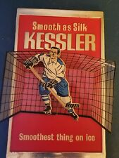 (VTG) 1960s Kessler whiskey 3-d Hockey player advertising sign Canada rare