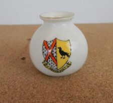 Crested Ware Tuscan China Vase Aberdovey Crest 5cm dia 5cm tall