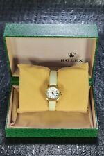 ROLEX DATEJUST 18K YELLOW GOLD 26MM WHITE ROMAN DIAL 6917 1990S BOXED⌚⌚