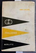 ITALIANO BERLITZ HARDCOVER 1967 VERY GOOD