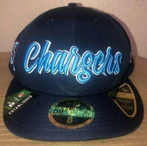 New Era NFL Los Angeles Chargers 1960 On Field Football Hat Cap Blue Sz 8 NWT