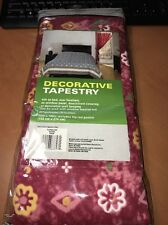 "Decorative tapestry Batik 72 "" x 102 "" Includes 2 in Rod Pocket New NWT"