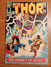 Mighty Thor #129 Hot Silver Age Key VG Zeus Cover 1st Ares Love & Thunder Marvel