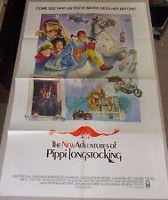 Vtg 1 sheet 27x41 Movie Poster The New Adventures of Pipi Longstocking Tami Erin