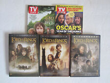 Lot of 3 Lord of the Rings Widescreen DVD Collection + 2 TV Guides