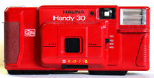 5x HALINA Handy 30 Fixed Focus 35mm Film Camera Auto Flash Cameras