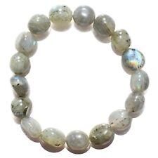 CHARGED Labradorite Crystal Bracelet Tumble Polished Stretchy ENERGY REIKI