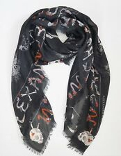 """NWOT Authentic ALEXANDER McQUEEN """"SKULL CABINETS"""" OVERSIZED Scarf Shawl Pashmina"""