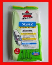 Bissell Style 2 Enviro Fresh Three Vacuum Cleaner Bags Allergen Filtration 47197