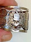 Antique 1890s GUATEMALA LIBERTAD 15 DE SETIEMBRE DE 1821~Rare Coin Napkin Ring