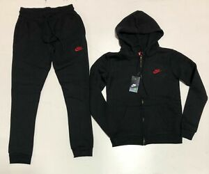 Nike Sweat Suit Hoodie Joggers Complete Set Brand New Full Zip Free Shipping