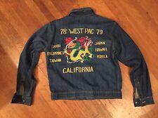 Rare 1978 79 Vietnam Levis Dragon Denim Tour Jacket Sz Lrg