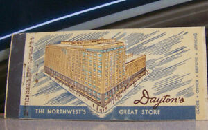 Rare Vintage Matchbook O8 New York Dayton Northwest's Great Store Wide View