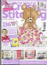 World of Cross Stitching Issue 251 Joan Elliott New Baby Sampler Cookie Bear