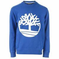 Men's Timberland Core Tree Crew Neck Cotton Blend Sweatshirt in Blue