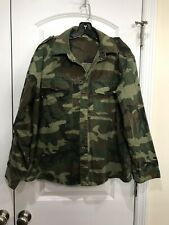Counter Intelligence Green Tricolor Camo Shirt Blouse  sz Med