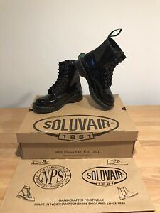 NPS SOLOVAIR Black Patent Leather 8 Eye Derby Boot! Size UK5! New! Only