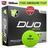 Wilson Staff DUO Optix Matte Green Golf Balls Dozen Pack *MULTI-BUY* NEW! 2020