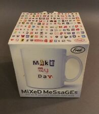 Fred & Friends Mixed Messages Cup Mug Do-it-yourself ransom note mug. Stickers