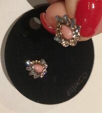 💖 Mimco New Tactilian Primrose  Stud Earrings Neptune Green + Dust Bag
