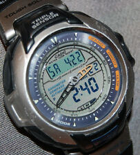 Super Rare! Casio Men's PAG 60 Pathfinder Solar Japan Version NEW SOLAR BAT!