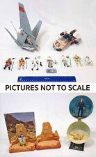 Star Wars Hasbro 3 3/4 Luke Lot T-16 Skyhopper Landspeeder & 11 Figures