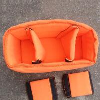 Flexible DSLR SLR Camera Lens Insert Bag Partition Padded Pouch for Travel ZX