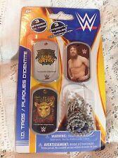 WWE DOG TAG SET OF 3, RANDY ORTON, DANIEL BRYAN, ERIC ROWAN WYATT FAMILY ID TAGS