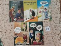 Lot of 5 Funny Novelty Risque ADULT Unused Bamforth Postcards #9