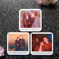 Personalised Coasters, Polaroid Photo Coasters, Custom Photo Drinks Mat, Custom