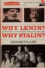 RUSSIA THEODORE VON LAUE WHY LENIN? WHY STALIN RUSSIAN REVOLUTION 1900-1930