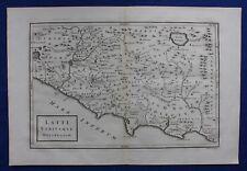 Original antique map ITALY, ROME, 'LATII UTRIUSQUE DELINEATIO', Cellarius, 1799