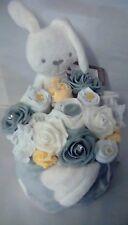 Baby Shower Gift Girl Lemon Grey White Nappy Cake Clothing Bouquet Mamas Papas