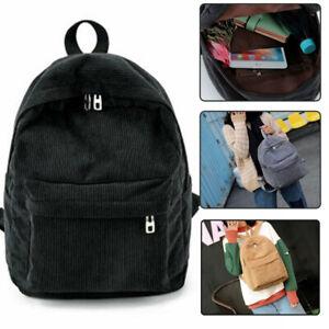 Women Corduroy Backpack School Bags Girls Travel Handbag Shoulder Bag Fashion