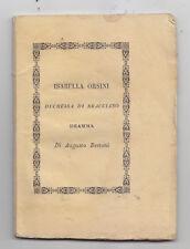BB829-ISABELLA ORSINI-DRAMMA DI AUGUSTO BERTONI-FAENZA