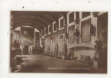 Banqueting Hall Naworth Castle Cumbria Vintage RP Postcard 651a