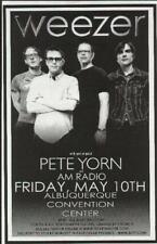 Weezer Pete Yorn Concert Poster Albuquerque 2002