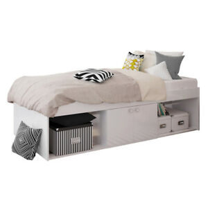 Child Teen or Adult Single Storage Cabin Bed in White - COSMETIC DEFECTS