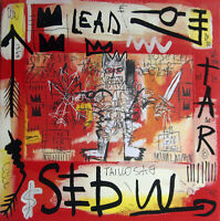 PyB signed LEAD WARRIOR basquiat TABLEAU pop street art french painting canvas