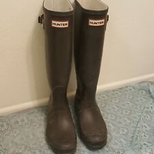 HUNTER Rain Boots Original Tall Matte Dark Gray Sz US 8