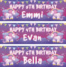 2 personalised birthday banner unicorns star children kids party poster docorati