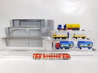 CG554-0,5# 3x Herpa H0/1:87 Sattelzug MB: Dennert + Paulaner + Dornier, NEUW+OVP
