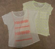 Lot of Two (2) Bojo Gypsy Embroidered Misses Gauze Shirts Blouses Size XS/S