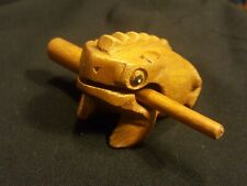 "4"" Deluxe Medium Generic Wood Frog Guiro Rasp Musical Instrument"